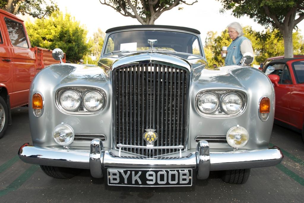 Silver Bentley cabriolet_Cars&Coffee/Irvine_12/17/11
