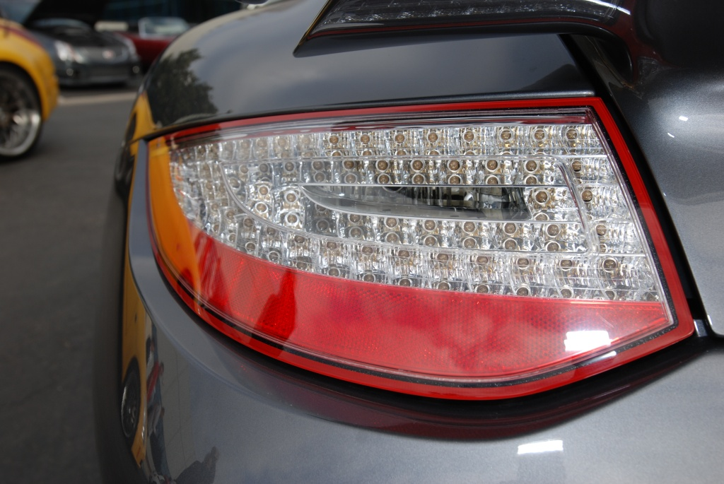 Porsche 997 taillight with reflections_Cars&Coffee/Irvine_2011