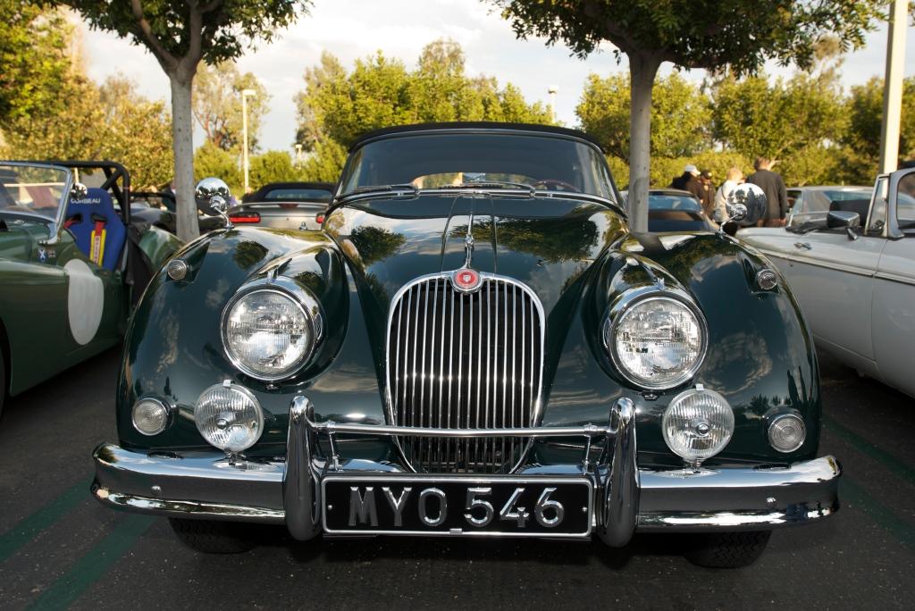 Green Jaguar XK 150 roadster_Cars&Coffee/Irvine_12/17/11