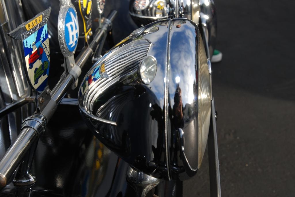 Jaguar grill, driving lights and badge bar_Cars&Coffee/Irvine_2011