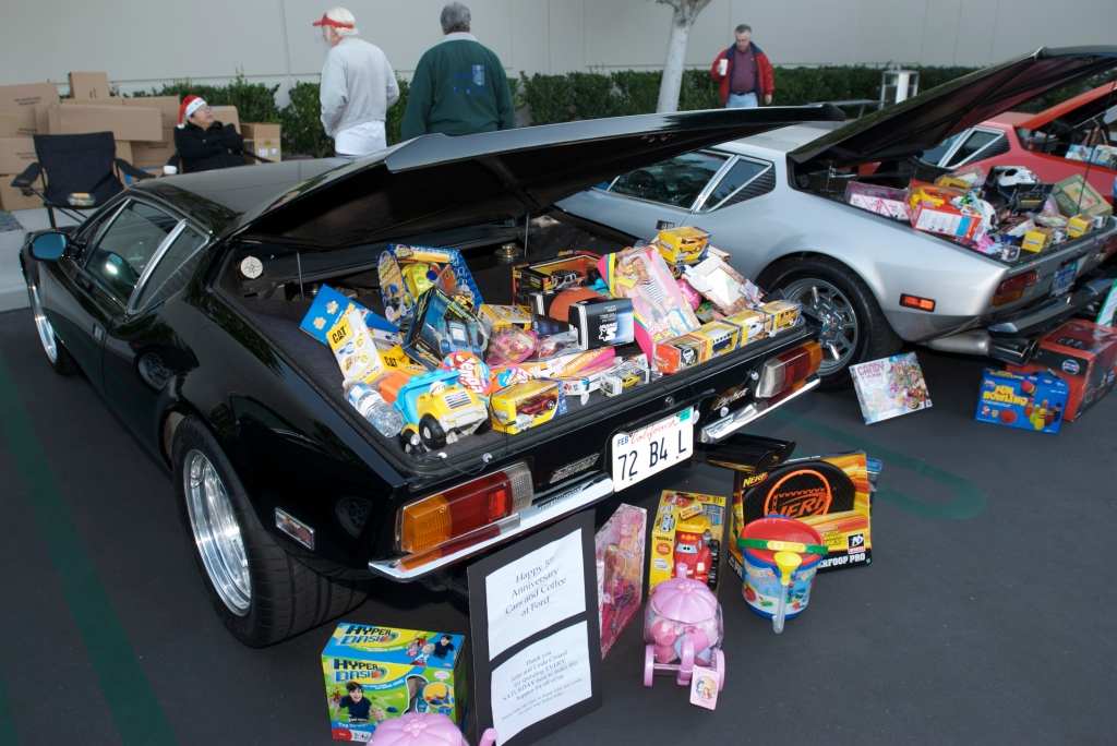 Pantera Club with presents for Toys for Tots drive_Cars&Coffee / Irvine_12/3/11