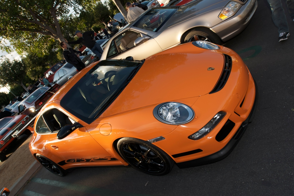 Orange 2007 Porsche GT3RS_Cars&Coffee/Irvine_12/17/11