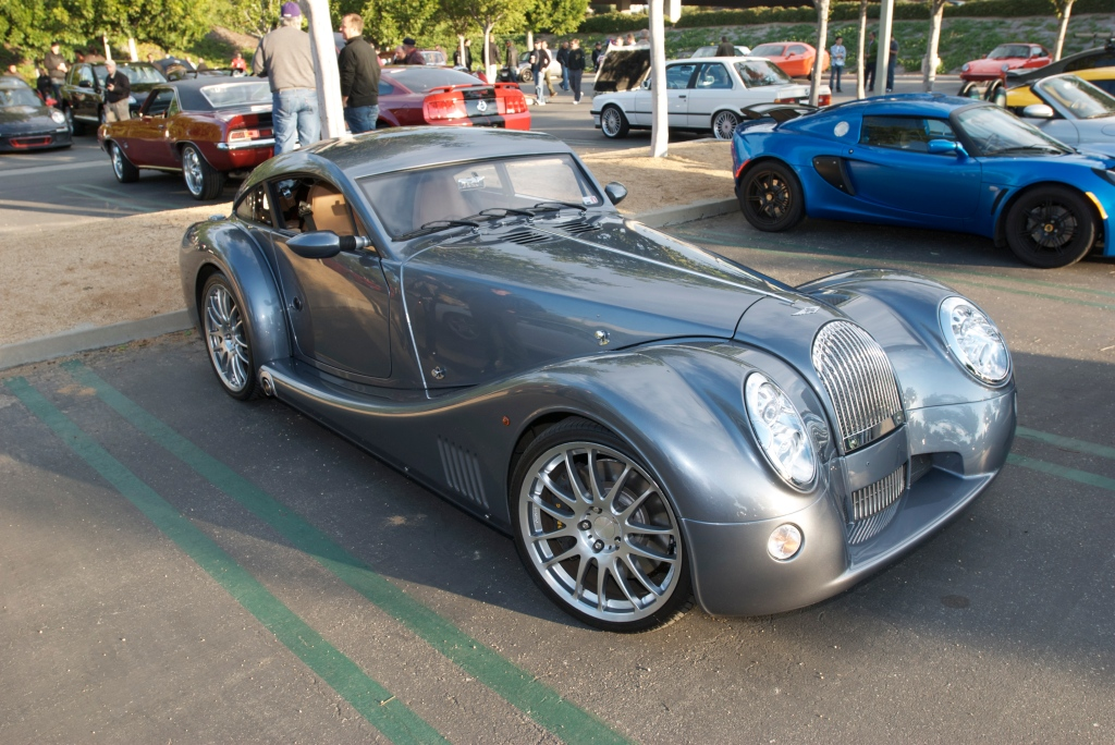 Slate blue Morgan coupe_Cars&Coffee/Irvine_12/17/11