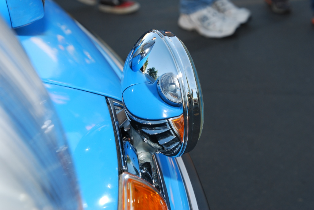 Blue Porsche 911 with grill mounted fog lights_Cars&Coffee/Irvine_2011