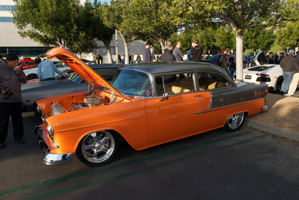 K&N filters two toned tri 5 chevy bel air_Cars&Coffee/Irvine_12/17/11