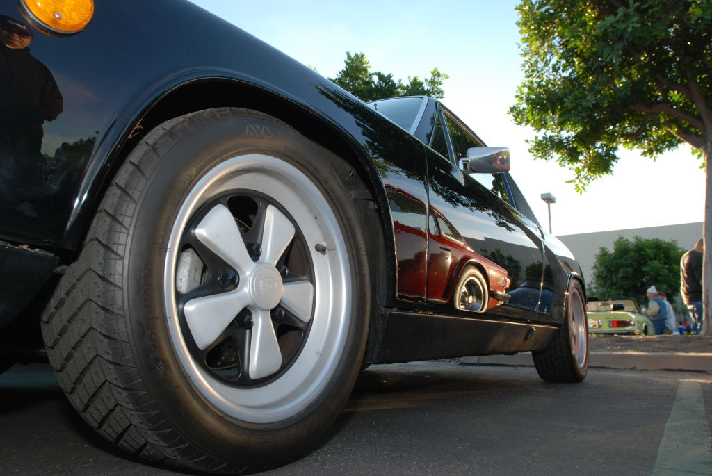 Black Porsche 914/6 with reflections_Cars&Coffee/Irvine_2011