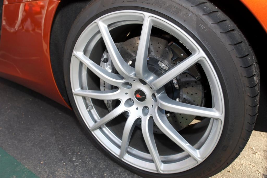 Volcano Orange McLaren MP4-12C_rear wheel_Cars&Coffee/Irvine_12/17/11