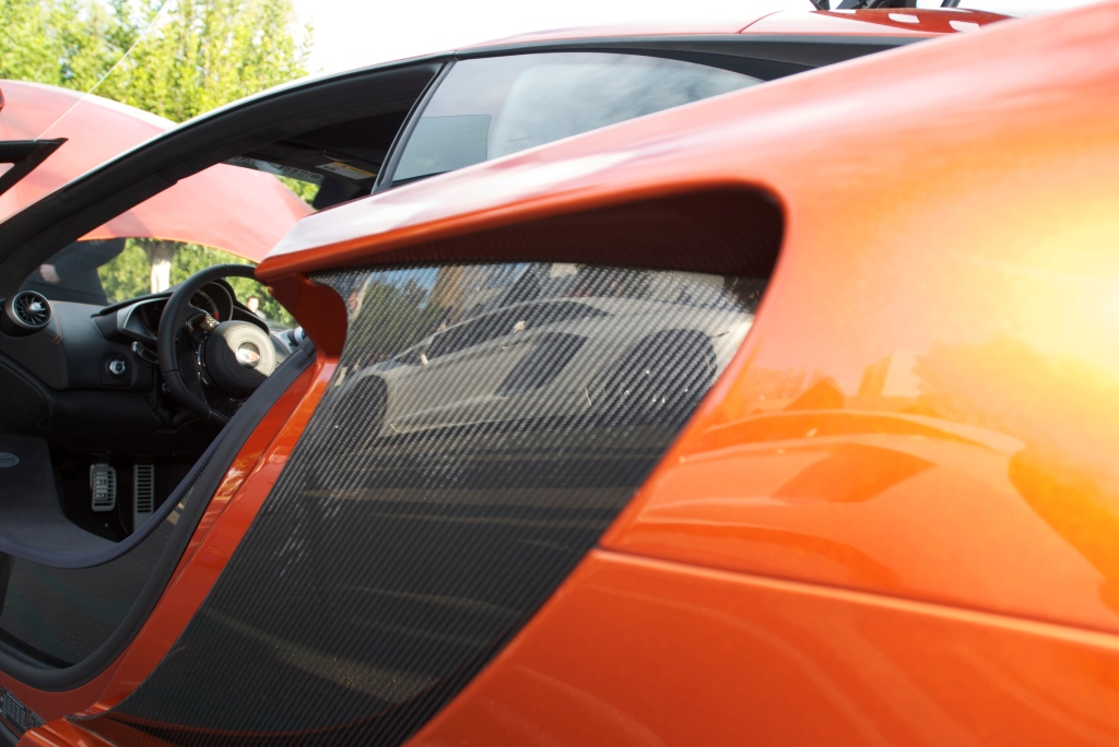 Volcano Orange McLaren MP4-12C_with lambo reflection_Cars&Coffee/Irvine_12/17/11