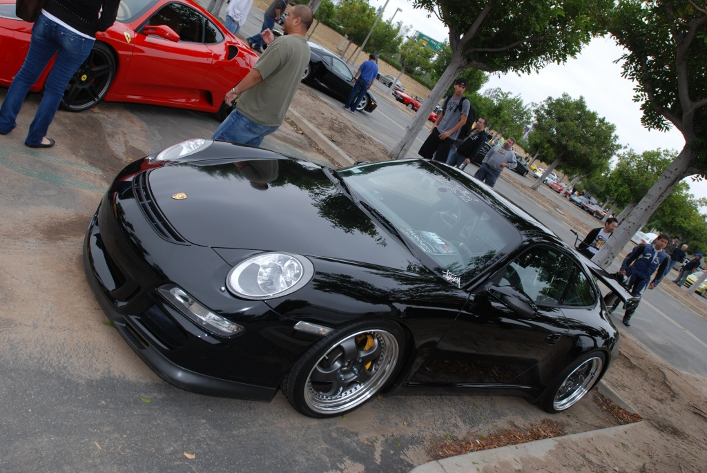 Black Porsche 997 with GT3 upgrades_Cars&Coffee/Irvine_2011