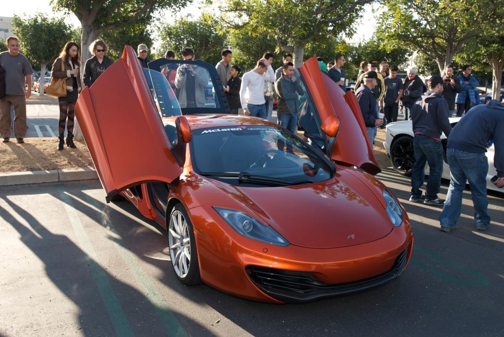 Volcano Orange McLaren MP4-12C_Cars&Coffee/Irvine_12/17/11