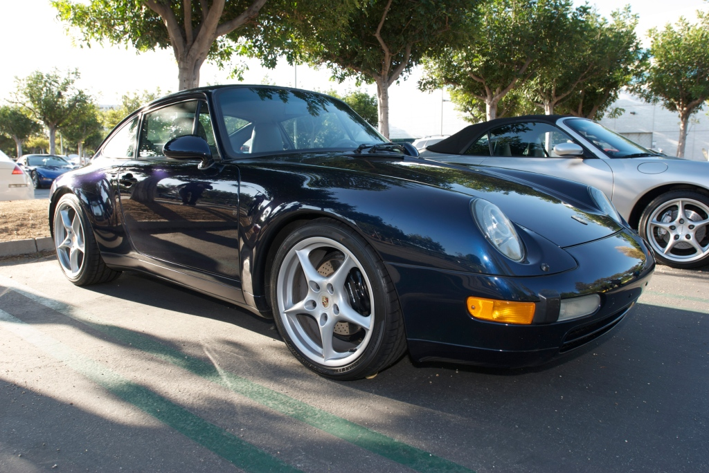 Dark blue Porsche 993_Cars&Coffee / Irvine_12/3/11