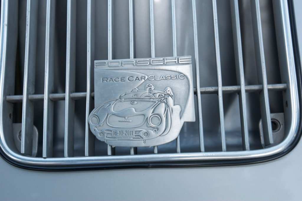 1957 Porsche 356 Carrera 4 cam_ grill badge_Cars&Coffee/Irvine_2011