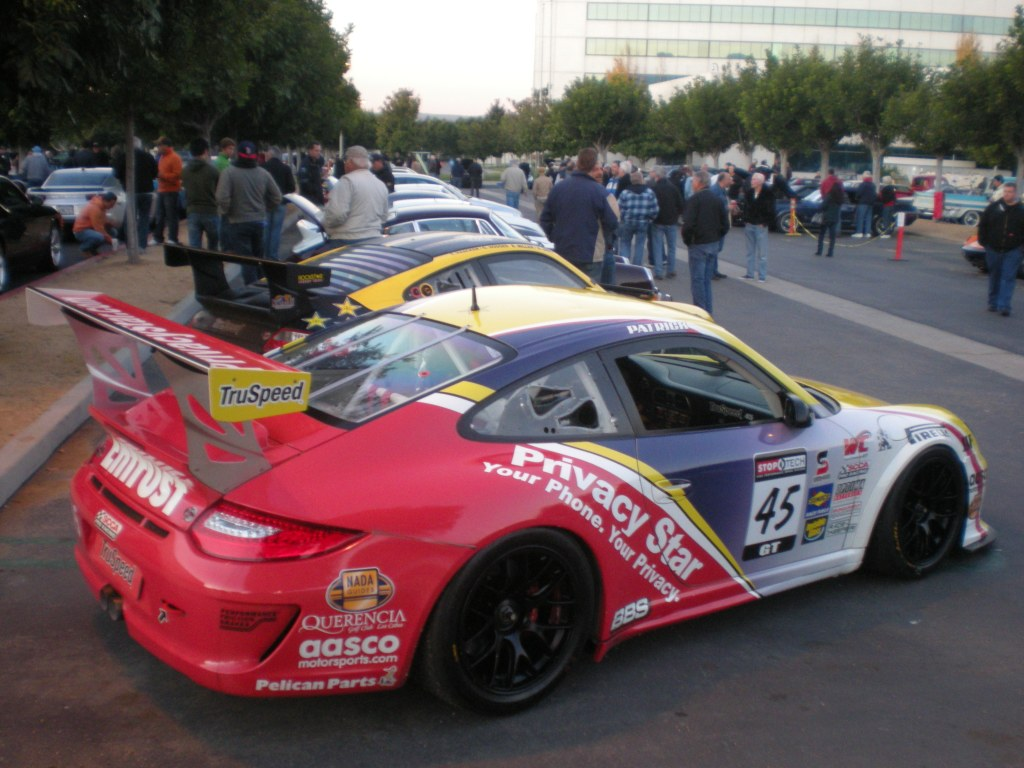 Truspeed /Privacy Star #45, Porsche GT3 cup car_2011 World Challenge cup series winner_Cars&Coffee/Irvine_12/10/11