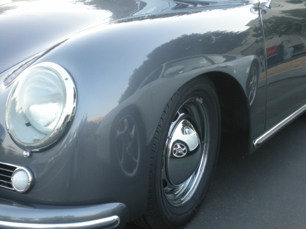 Porsche 356A gray coupe_Cars&Coffee /Irvine_12/10/11