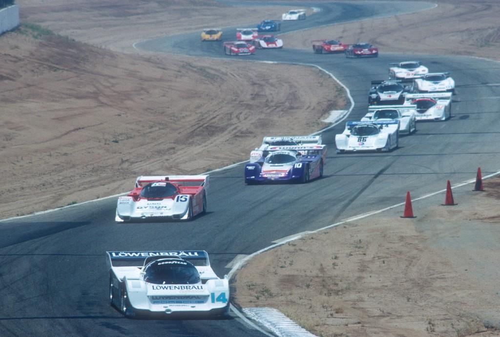 Al Holbert #14 Lowenbrau Porsche 962_Riverside Raceway_Apr 87