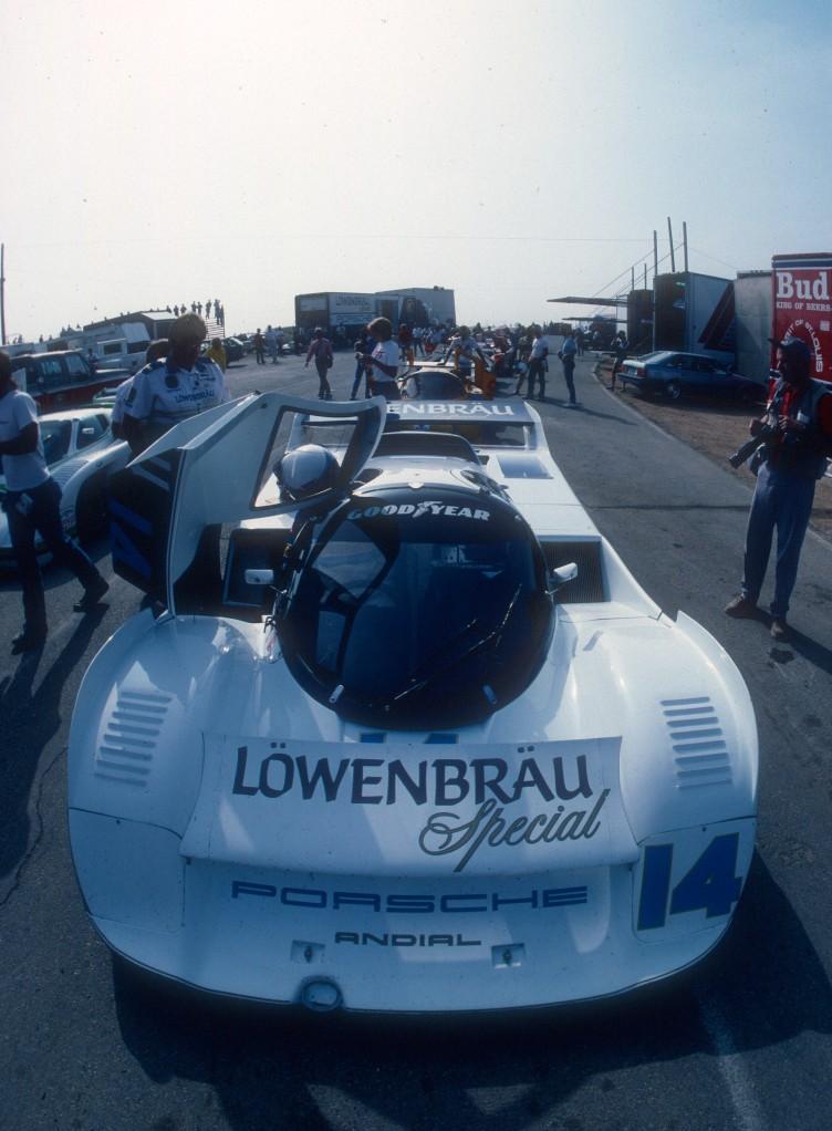 Al Holbert #14_Lowenbrau Porsche 962_10.1C_Riverside Raceway_Apr 87