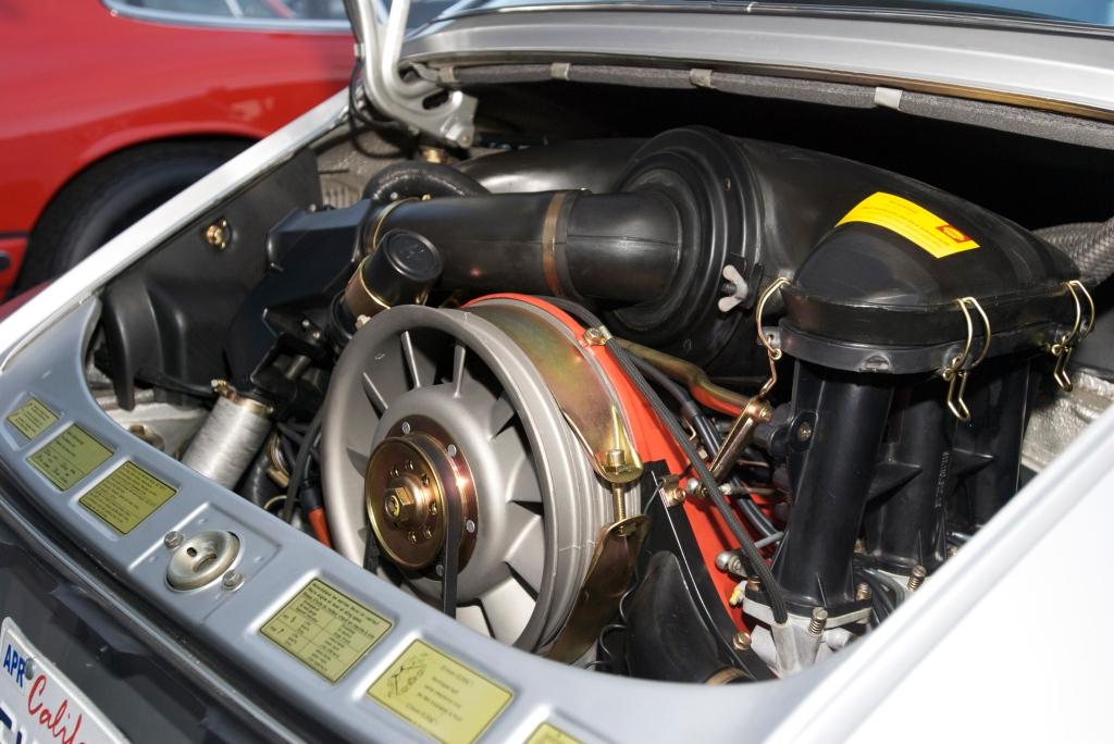 Silver european spec 1973 Porsche 911S_2.7 motor_Cars&Coffee/Irvine_1/14/12