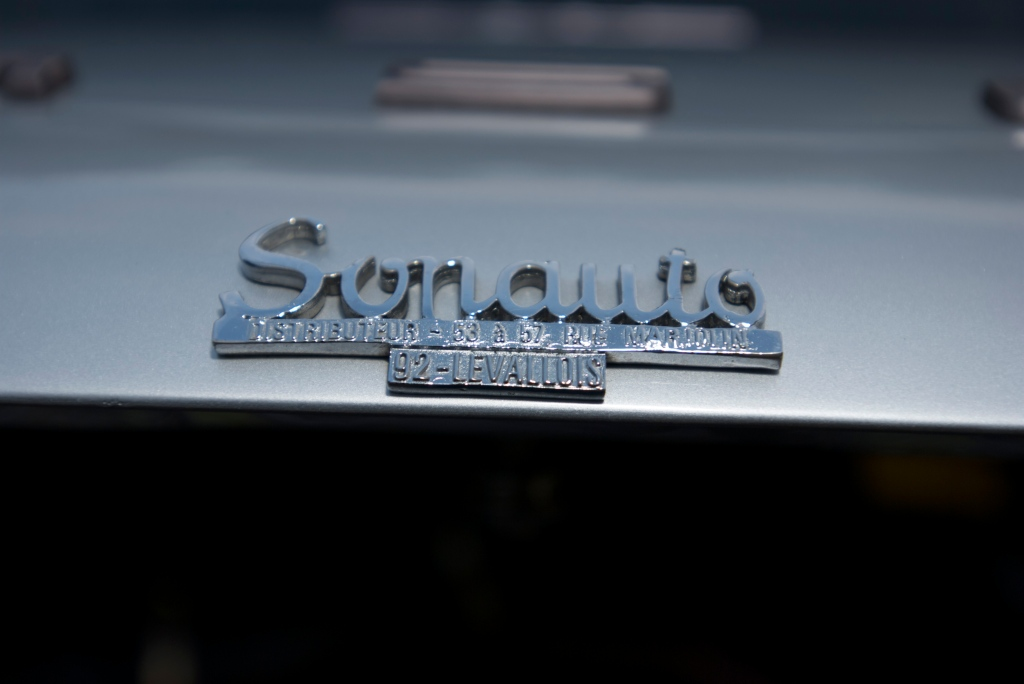 Silver European spec 1973 Porsche 911S_Sonauto rear deck badge_Cars&Coffee/Irvine_1/14/12