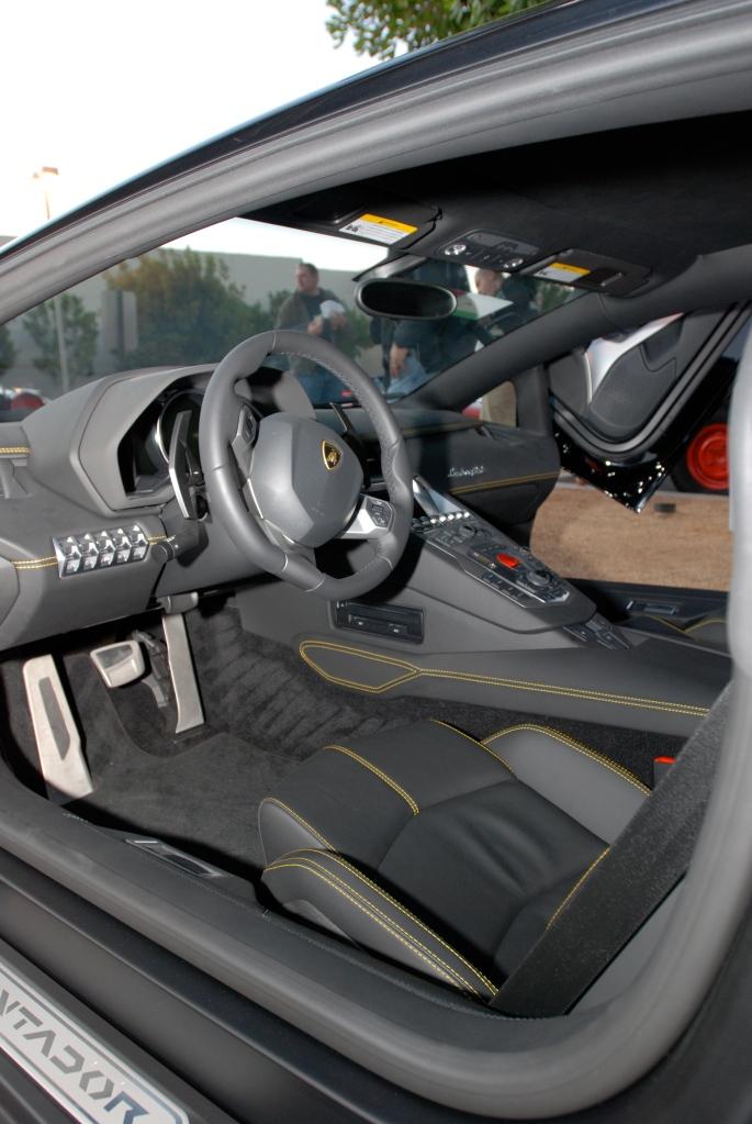 gloss black Lamborghini Aventador_Interior_Cars&Coffee/Irvine_1/28/12