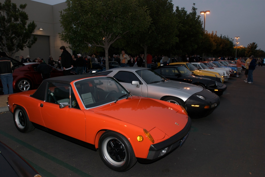 Porsche row_Cars&Coffee/Irvine_1/7/12