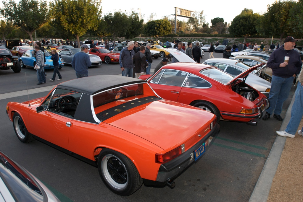 """Tangerine"" 1970 Porsche 914-6_Cars&Coffee/Irvine_1/14/12"