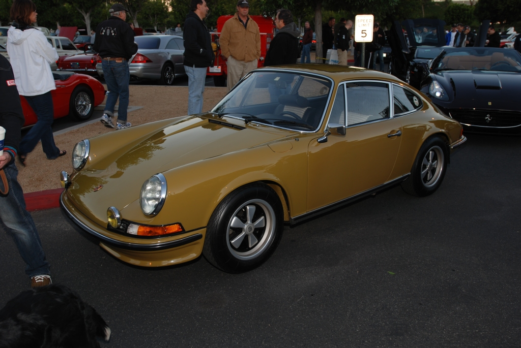 Early 1973 Porsche 911E_Cars&Coffee/Irvine_1/28/12