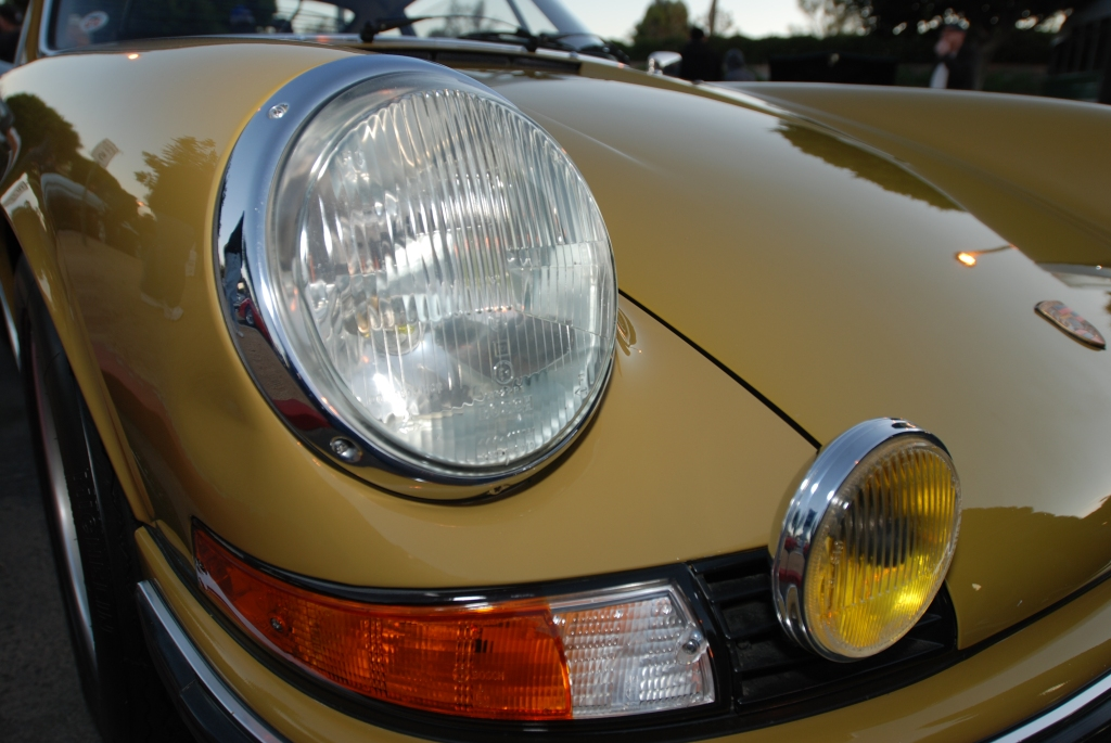 Early 1973 Porsche 911E_w/euro spec lights & lenses_Cars&Coffee/Irvine_1/28/12