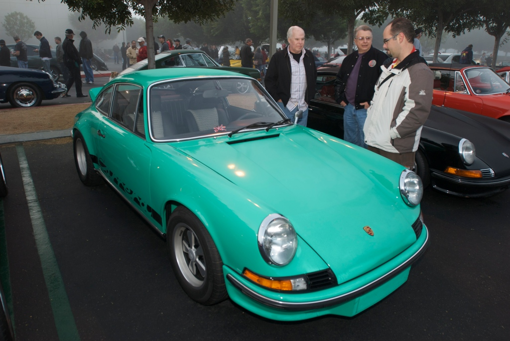 Green 1973 Porsche 911 Carrera RS_with dash bow_Cars&Coffee/Irvine_12/31/11