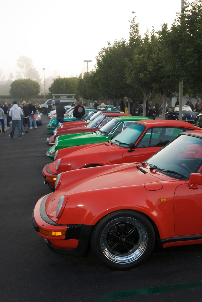 Porsche row_Cars&Coffee/Irvine_12/31/11