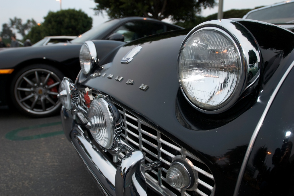 Black on black Triumph TR3_Cars&Coffee/Irvine_1/7/12
