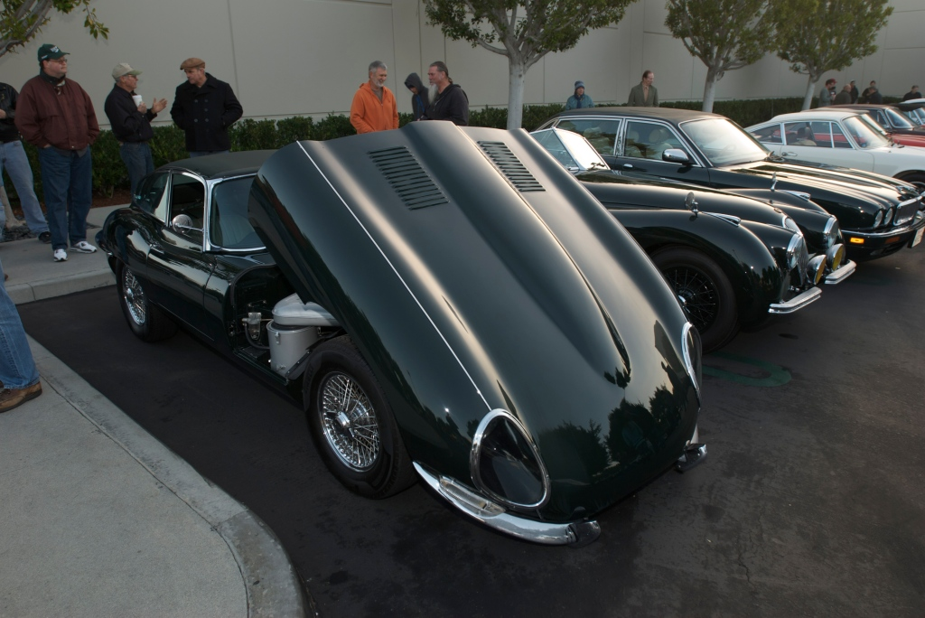 Jaguar E type 4.2 coupe and XK roadster_Cars&Coffee/Irvine_12/31/11