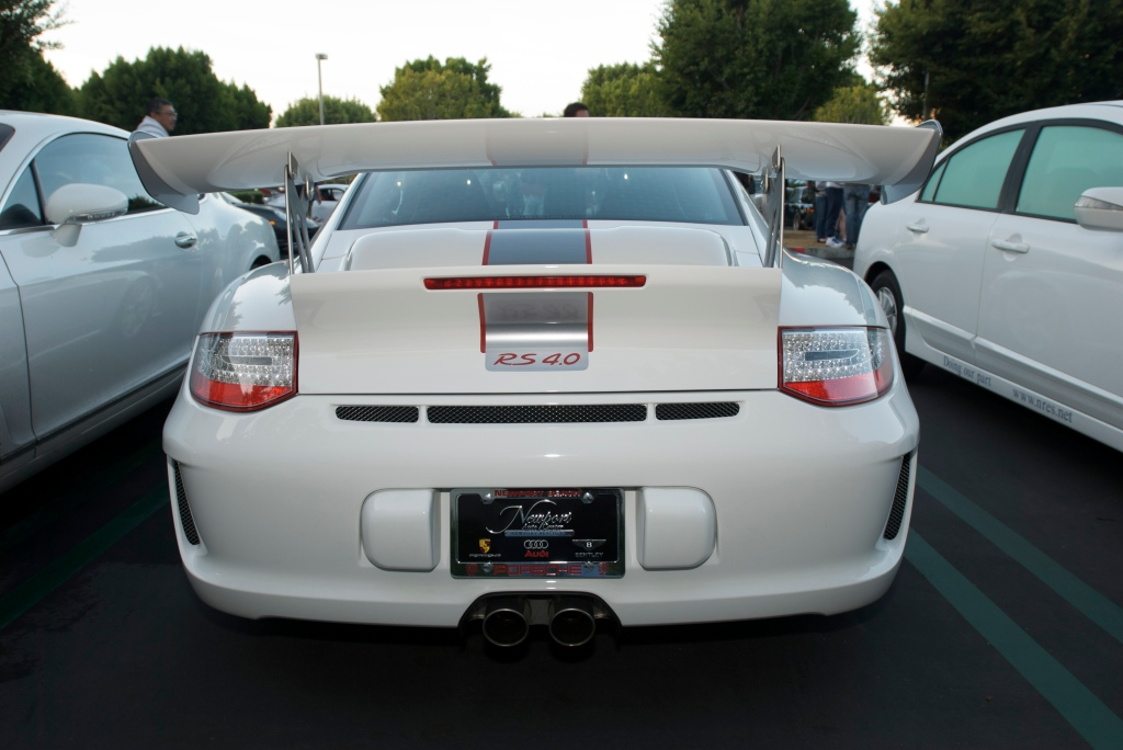 2011 White, stock Porsche GT3 RS4.0_Cars&Coffee/Irvine_12/31/11