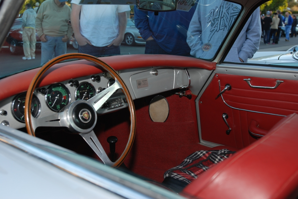 silver 1960 Beutler-Porsche_Interior w/356 dash_Cars&Coffee/Irvine_1/28/12