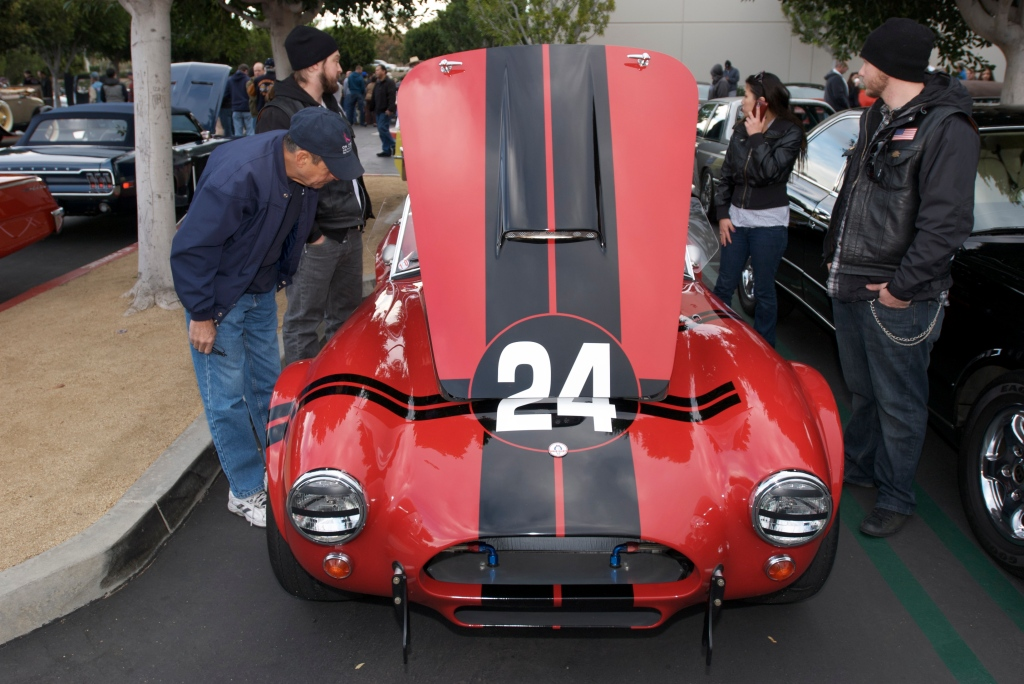 Red Shelby Cobra_289 F.I.A. spec model_Cars&Coffee/Irvine_1/14/12