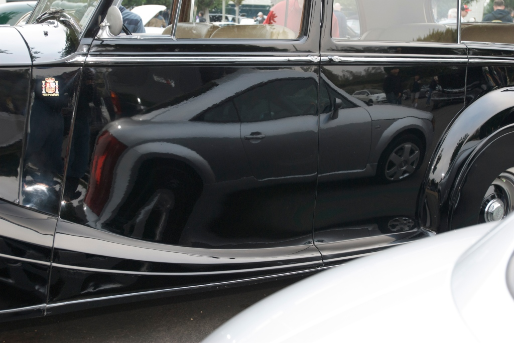 Black Rolls Royce_w/Audi TT reflection_Cars&Coffee/Irvine_1/7/12