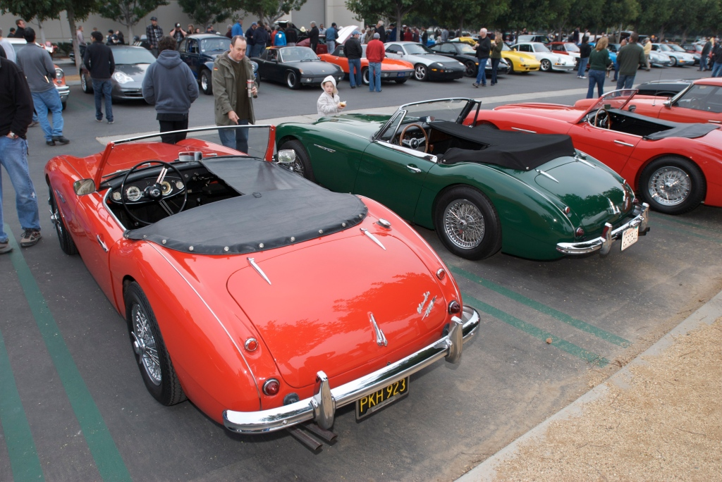 A trio of Austin Healeys_MarkII, Mark III, original_Cars&Coffee/Irvine_1/7/12