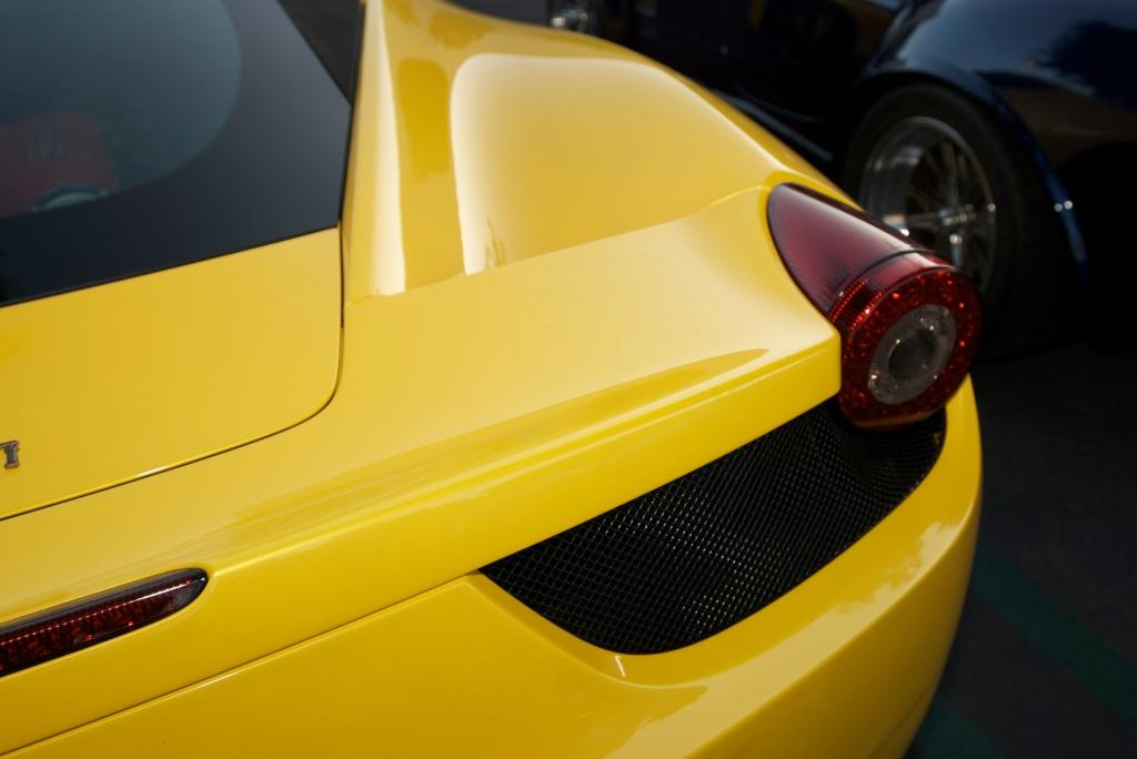 Yellow 2011 Ferrari 458 Italia_Cars&Coffee/Irvine_12/31/11