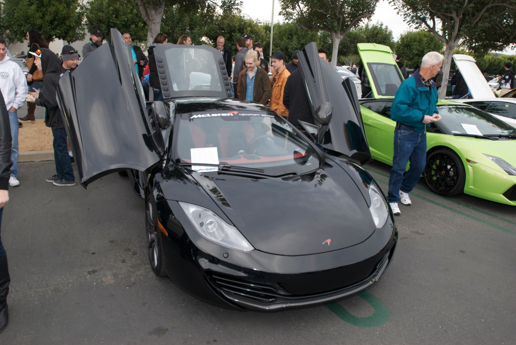 Black McLaren MP4-12C_Cars&Coffee/Irvine_1/14/12