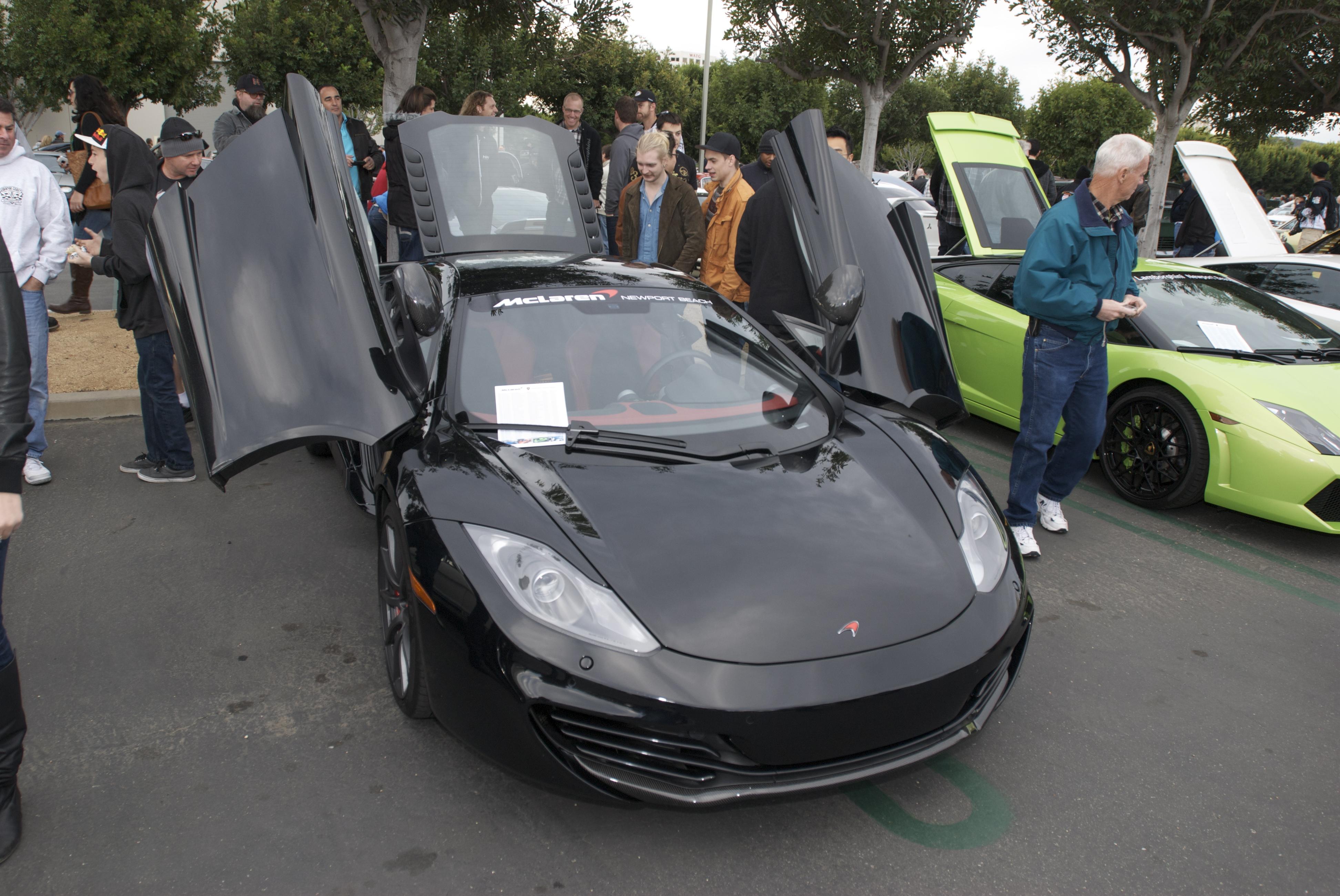 Black McLaren MP4 12C_Carsu0026Coffee/Irvine_1/14/12