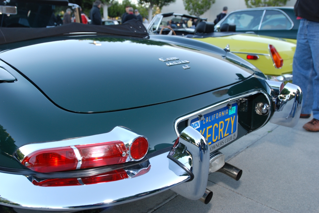 British Racing Green Jaguar 4.2 E type roadster_Cars&Coffee/Irvine_1/28/12