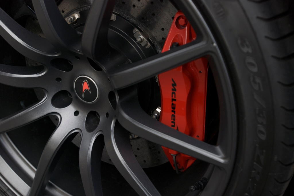 Black McLaren MP4-12C_w/Stealth finished wheels and red caliper_Cars&Coffee/Irvine_1/14/12