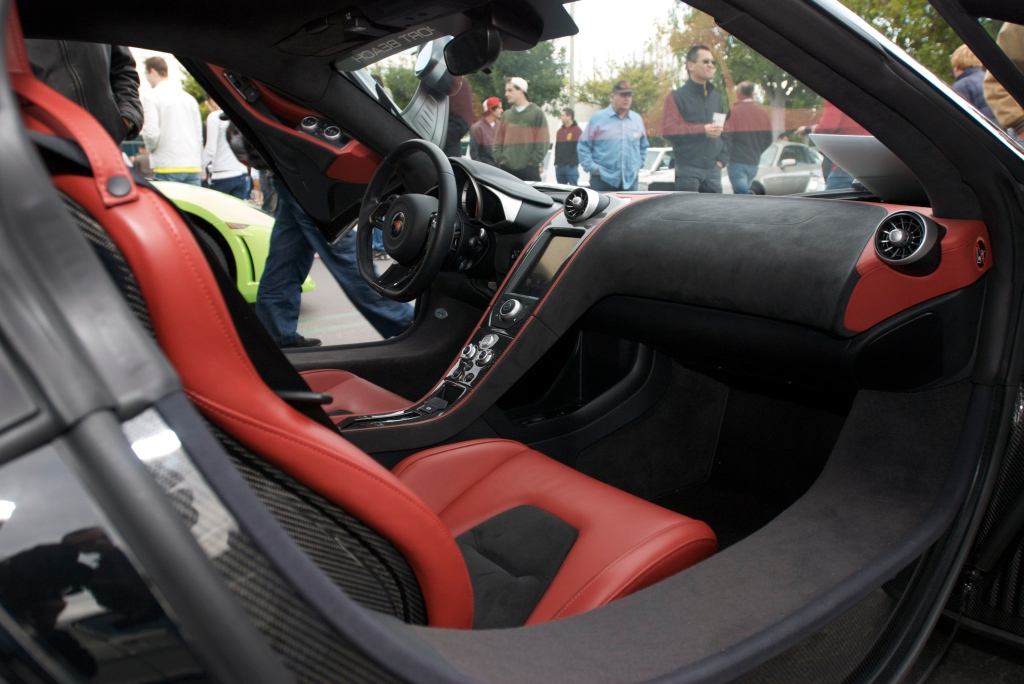 Black McLaren MP4-12C_w/ black & red Interior_Cars&Coffee/Irvine_1/14/12