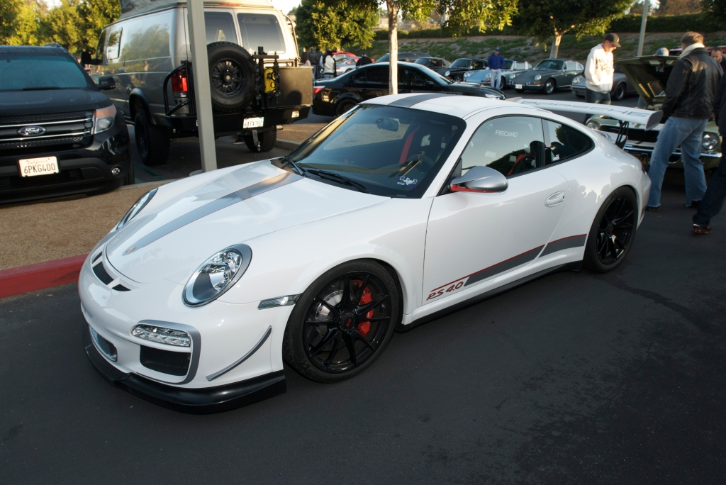 White 2011 Porsche GT3RS 4.0_Cars&Coffee/Irvine_12/31/11