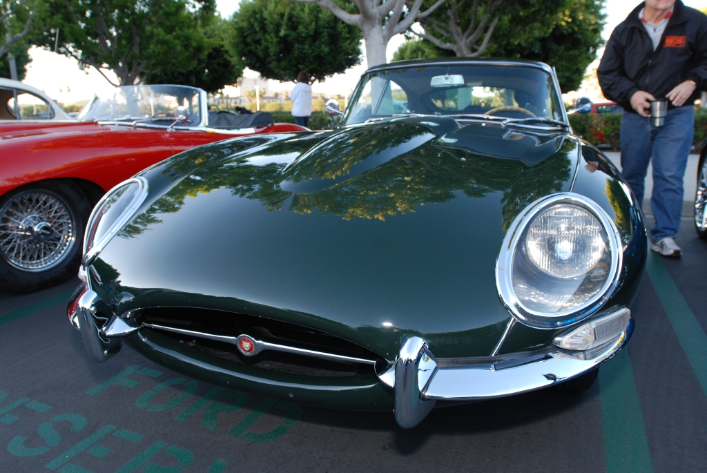 British Racing Green Jaguar 4.2 E type coupe_Cars&Coffee/Irvine_1/28/12