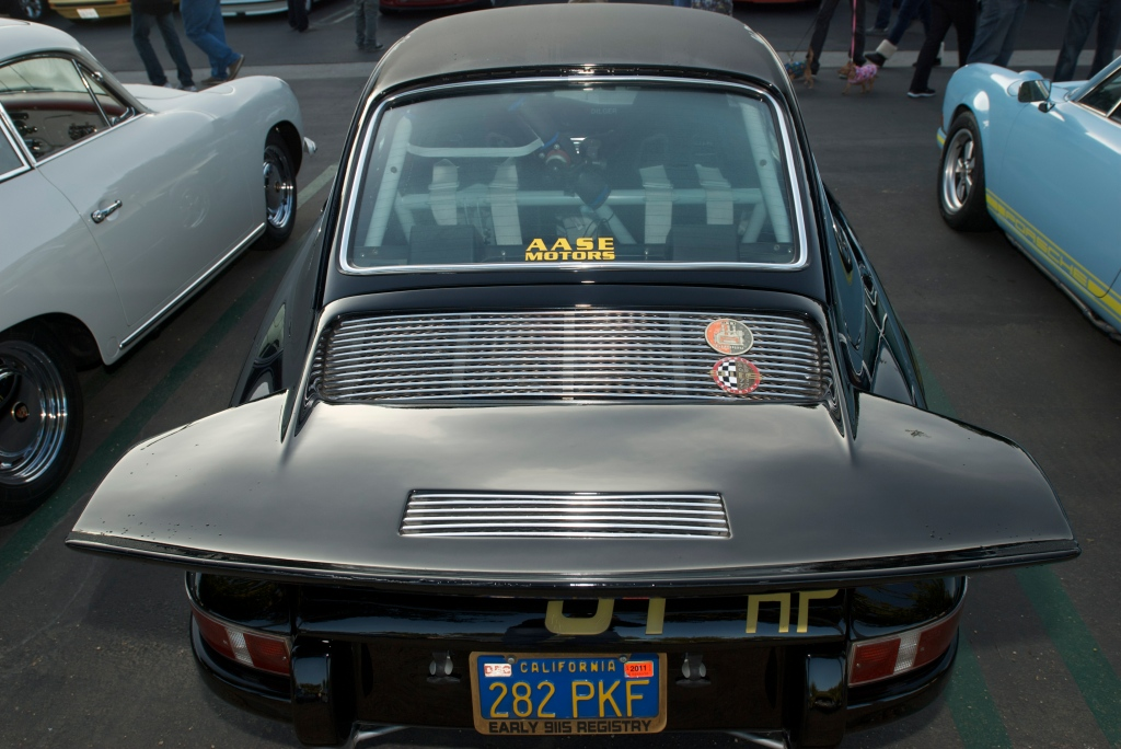 Black Porsche 911S club racer_ whale tail_Cars&Coffee/Irvine_12/31/11
