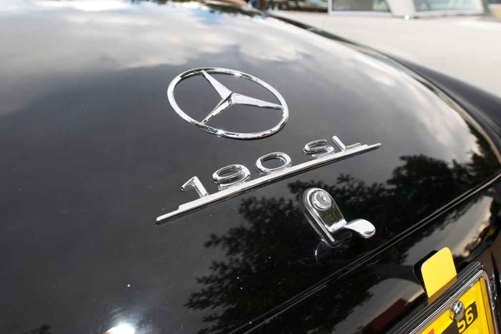 Black on tan_Mercedes Benz 190 SL roadster_Cars&Coffee/Irvine_1/14/12