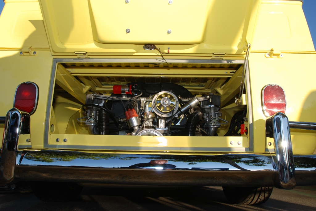 Yellow 1967 VW type 2 crew cab_motor_Cars&Coffee/Irvine_1/28/12