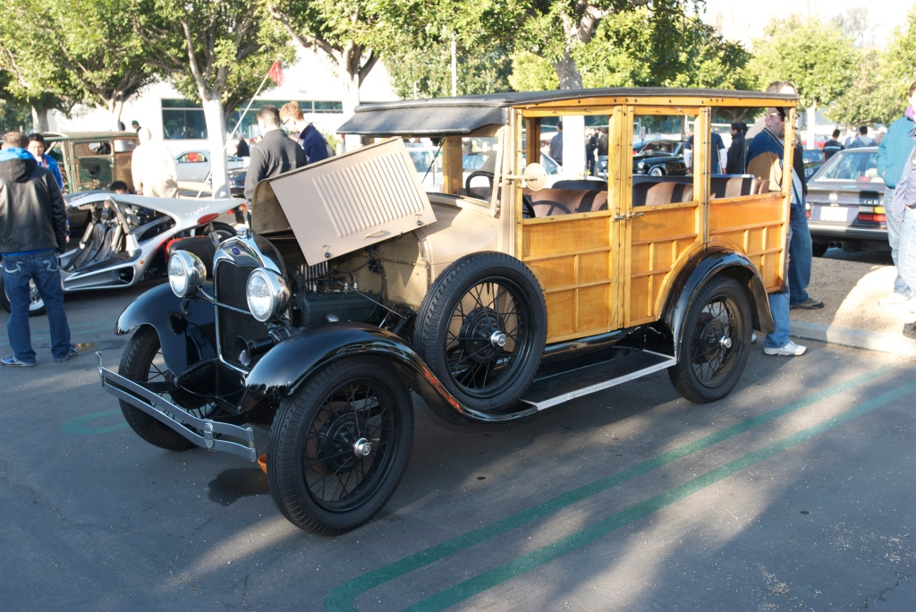 1930 Model A Ford woodie_Cars&Coffee/Irvine_12/31/11