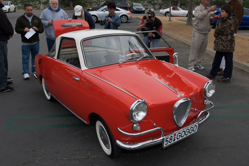 1958 Red & white Goggomobile_Cars&Coffee/Irvine_1/7/12