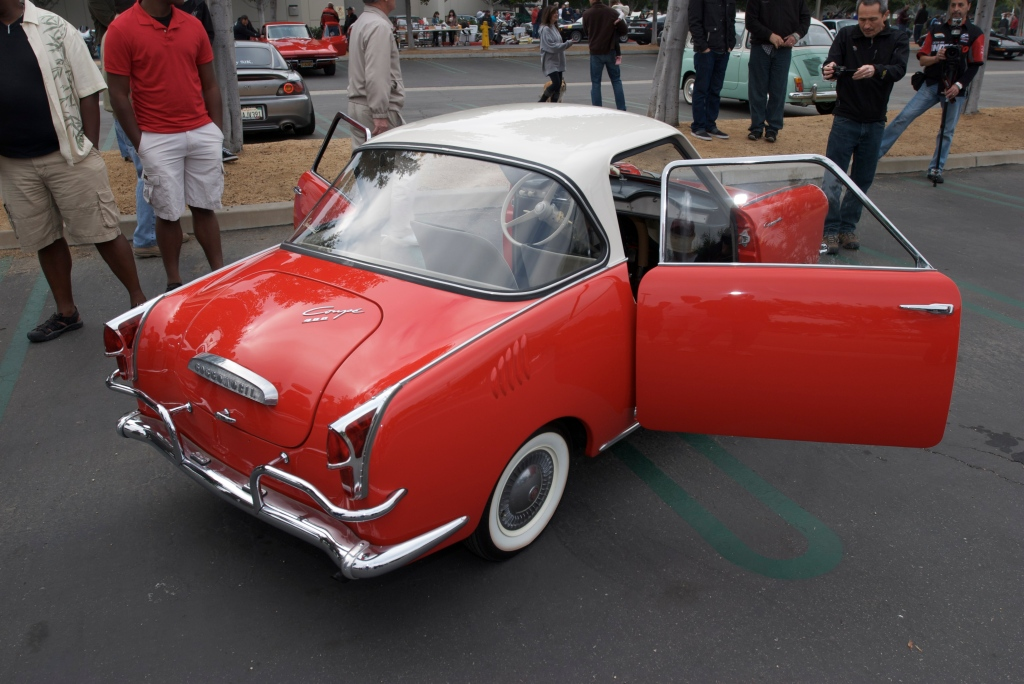 Red & white Goggomobile_Cars&Coffee/Irvine_1/7/12